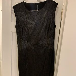 W118 byWalter Baker Black Leather Reptile Dress